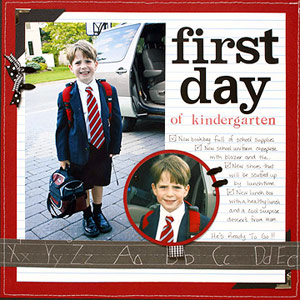 First Day of School Scrapbook Pages
