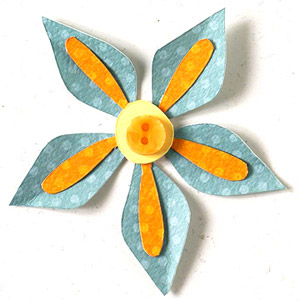 STAR-SHAPE FLOWER PAPER-PIECING PATTERN