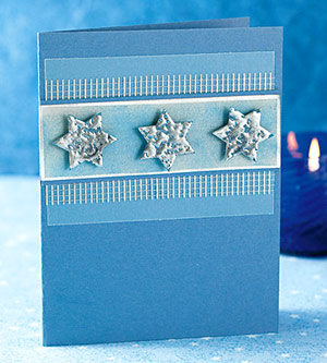 Add Shimmer To Hanukkah Card Embellishments With Metallic Embossing Powder