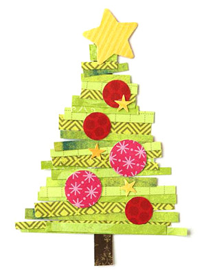 SCRAPPY CHRISTMAS TREE PAPER-PIECING PATTERN