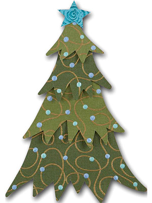 EVERGREEN CHRISTMAS TREE PAPER-PIECING PATTERN