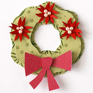 POINSETTIA WREATH PAPER-PIECING PATTERN