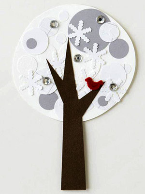 WINTER TREE PAPER-PIECING PATTERN
