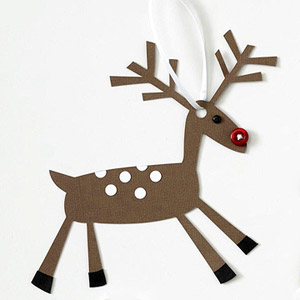 REINDEER PAPER-PIECING PATTERN