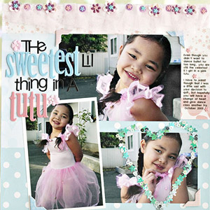 USE SEQUINS TO ADD SHINE TO A BALLET SCRAPBOOK PAGE