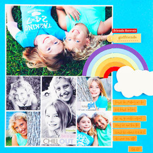 Overlap Scrapbook Elements