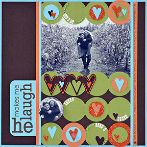 PUNCH FOLDED CARDSTOCK TO CREATE SCRAPBOOK PAGE BACKGROUNDS