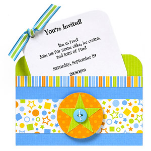 Creat a pocket-style party invitation