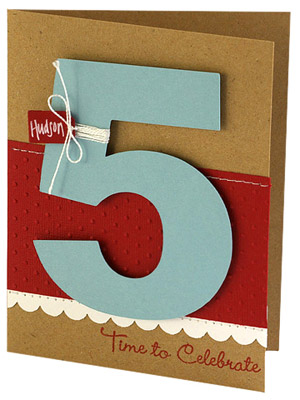Use a die-cut number to commemorate an age