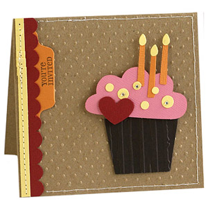 Emboss a birthday invitation to add texture
