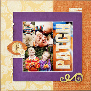 SCRAPBOOK PUMPKIN PATCH PHOTOS IN A COLLAGE TEMPLATE