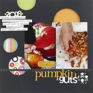 PLAY PEEKABOO ON PUMPKIN SCRAPBOOK PAGES
