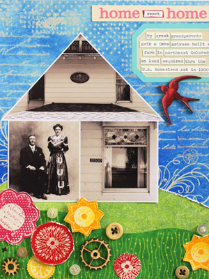 Make A House-Shape Collage With Heritage Photos