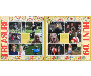Create A Scrapbook Layout Featuring Two Collages