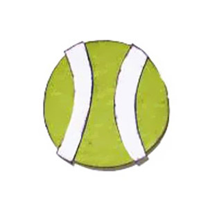 TENNIS BALL PAPER-PIECING PATTERN