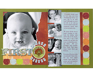 Baby's First Thanksgiving Scrapbook Page