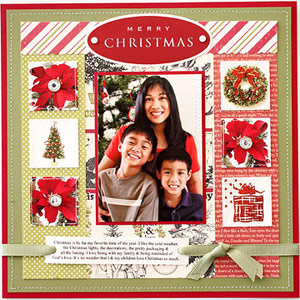 Embellish A Holiday Scrapbook Page With Christmas Cards