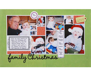 Use A Photo Collage Twice On A Two-Page Scrapbook Layout