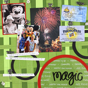 MAKE A MEMO BOARD VACATION SCRAPBOOK PAGE