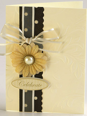 CREATE A TRADITIONAL WEDDING CARD WITH EMBOSSED PAPER