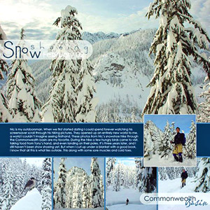 FILL A DIGITAL SCRAPBOOK PAGE WITH WINTER SPORTS PHOTOS