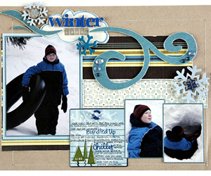GIVE WINTER PHOTOS BRIGHT COLOR MATS TO HELP THEM STAND OUT