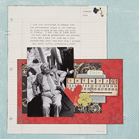 Adult scrapbook page about a grandpa; beginner scrapbooking