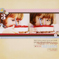 happy birthday layout page