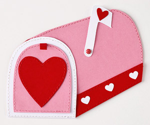 Mailbox with hearts