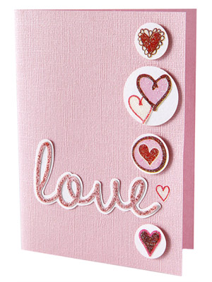 Add glitter to make Valentine's cards sparkle
