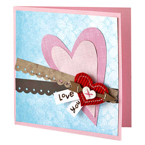 Move decorative borders to the center on Valentine's Day cards
