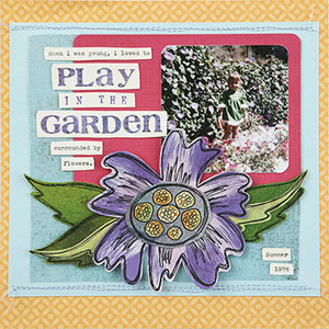 DOODLE A PAPER PIECING FOR YOUR SCRAPBOOK PAGE