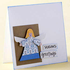 USE PATTERNED PAPER TO CREATE A PETITE ANGEL PAPER PIECING