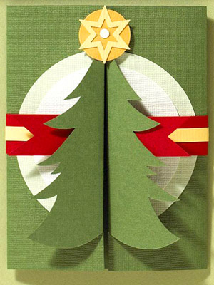 TURN A PAPER PIECING INTO A SHAPED CARD