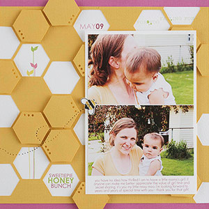 Baby page made to look like honeycomb