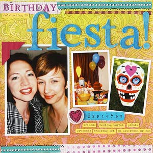 Adult birthday page; fiesta theme