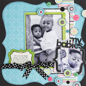 My babies Scrapbook Page