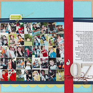 multiphoto scrapbook page; grid
