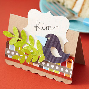 Place setting; card