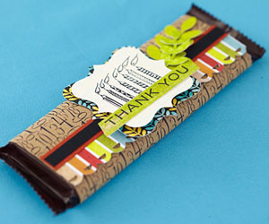 Candy bar party favor