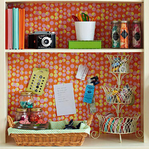 Bulletin board storage