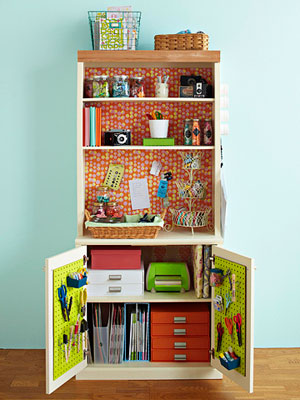 Scrapbook storage hutch