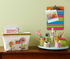 Scrapbook storage solutions; tabletop ideas