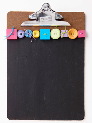 Chalkboard; painted clipboard