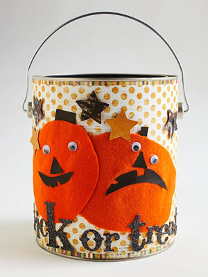 Decorate a Trick-or-Treat Paint Can