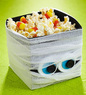 Wrap a Mummy Halloween Treat Basket