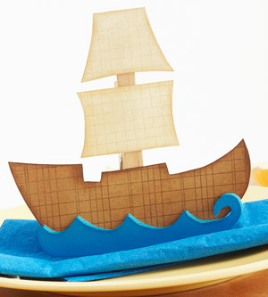 Mayflower Ship Paper-Piecing Pattern