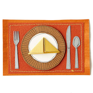 Place Setting Paper-Piecing Pattern