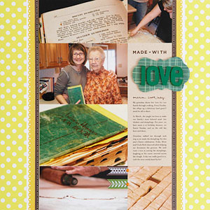Family recipe scrapbook page