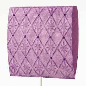 Purple Embossed Lollipop Cover
